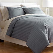 Royal Velvet® 400tc Damask Stripe Cotton Comforter Set & Accessories