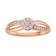 1/5 CT. T.W. Diamond 10K Rose Gold Bridal Ring