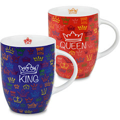 Konitz King and Queen Set of 2 Mugs