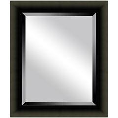 Satin Black Beveled Mirrors