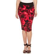 Bisou Bisou Zip Back Pencil Skirt