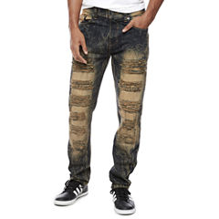 Ripped and Washed Denim Jean