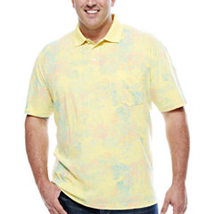 The Foundry Big & Tall Supply Co. Short Sleeve Pattern Jersey Polo Shirt