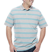 The Foundry Big & Tall Supply Co. Short Sleeve Stripe Jersey Polo Shirt Big and Tall