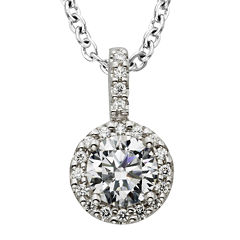 Diamonore™ 1 CT. T.W. Simulated Diamond Halo Pendant Necklace