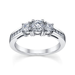 Diamonore™ 1 CT. T.W. Simulated Diamond Round 3-Stone Ring