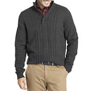 Arrow® Long-Sleeve Cable-Knit Sweater