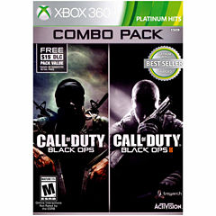 Call Of Duty Black Ops 1 & 2 Video Game-XBox 360