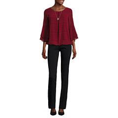 Alyx 3/4 Sleeve Blouse or Straight-Leg Pull-On Pants