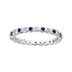 Personally Stackable Lab-Created Sapphire & Diamond-Accent Eternity Ring