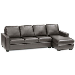 Leather Possibilities Track-Arm 2-pc. Left-Arm Sofa/Chaise Sectional