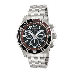 Invicta® Pro Diver Mens Silver-Tone & Brown Chronograph Watch 14512