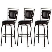 Trenton Set of 3 Adjustable Swivel Barstools