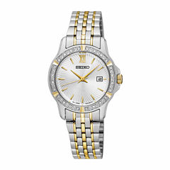 Seiko Womens Two Tone Bracelet Watch-Sur732