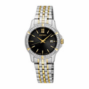 Seiko Womens Two Tone Bracelet Watch-Sur730