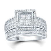 Womens 1/2 CT. T.W. White Diamond Bridal Set