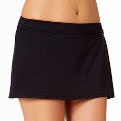 Liz Claiborne Solid Swim Skirt