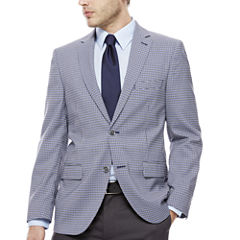 The Savile Row Blue Grey Check Sport Coat-Slim Fit