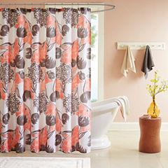 Intelligent Design Lily Microfiber Shower Curtain