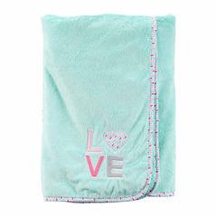 Carter's Girl Mint Plush Blanket
