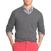 IZOD V Neck Long Sleeve Knit Pullover Sweater