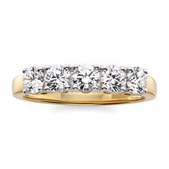 1 CT. T.W. Diamond 10K Yellow Gold 5-Stone Wedding Band