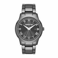 Claiborne Mens Black Bracelet Watch-Clm1201