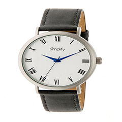 Simplify Unisex Gray Strap Watch-Sim2902
