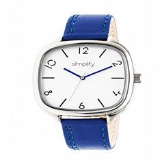 Simplify Unisex Blue Strap Watch-Sim3503