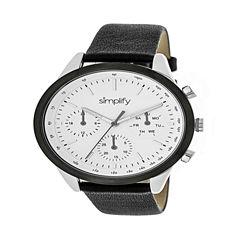 Simplify Unisex Black Strap Watch-Sim3801