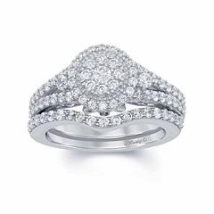 Enchanted by Disney 1 C.T. T.W. Diamond & Blue Saphhire 14K White Gold