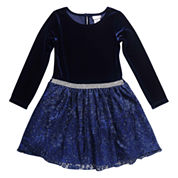 Young Land Long Sleeve Party Dress - Preschool
