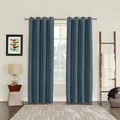 Sun Zero Tayden Blackout Grommet-Top Curtain Panel