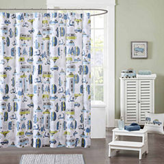 INK+IVY Road Trip Cotton Shower Curtain
