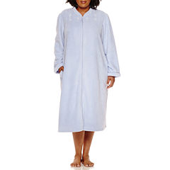Earth Angels Long Sleeve Plush Zip Robe