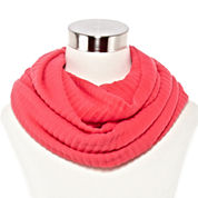 Pleated Woven Infinity Scarf