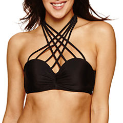 Ibiza Solid Bandeau Swimsuit Top-Juniors