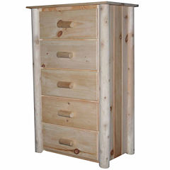 Frontier Pine 5-Drawer Chest