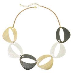 Bold Elements™ Brushed Finish Oval Necklace