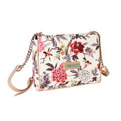 Waverly Bird Floral Flap Crossbody Bag