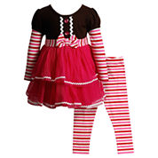 Young Land Girls Legging Set-Toddler