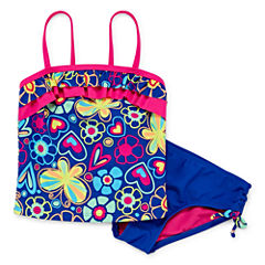 Okie Dokie Girls Pattern Tankini Set - Preschool