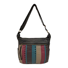 St. John's Bay® Quilted Front Convertible Hobo Bag