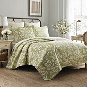 Laura Ashley 2 pc Quilt Set