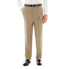 Savane® Pleated Crosshatch Dress Pants