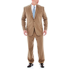 Stafford® Travel Tan Herringbone Suit Separates - Big & Tall