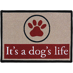 PB Paws by Park B. Smith® Dogs Paws Tapestry Pet Mat