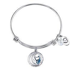 Footnotes Womens Blue Silver Over Brass Bangle Bracelet