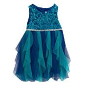 Rare Editions Sleeveless Party Dress - Preschool