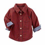 Oshkosh Boys Long Sleeve Button-Front Shirt